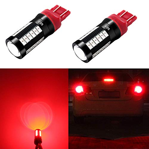 Alla Lighting 2800lm 7440 7443 LED Red Signal Brake Stop Lights Bulbs Xtreme Super Bright T20 7440 7443 LED Bulb 5730 33-SMD 12V LED 7443 Bulb 7441 7444 W21W LED Turn Signal Blinker Stop Tail Light