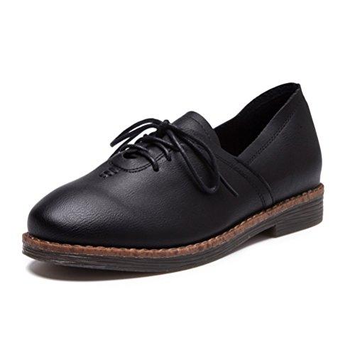 ツーリスト反論者どれでも[オス スメミセ] カジュアルシューズ レディース 茶色 黒 暗緑 フラット プレーントゥ 甲ストラップ プレーントゥ ドレス 通勤 通学 入学式 卒業式 学生靴