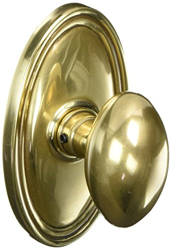 Oval Rosette Set With Elliptical Brass Knobs Double Dummy In Antique Brass. Doorsets. (Emtek French Antique Brass)