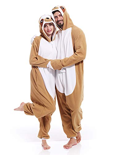 Adult Sloth Pajamas Cosplay Animal Homewear Sleepwear Jumpsuit