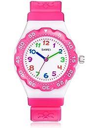 Kids Watch for Girls Boys - CakCity Waterproof Cute Cartoon Analog Quartz Wrist Watches for Kids Birthday Gifts Time Teacher for Children