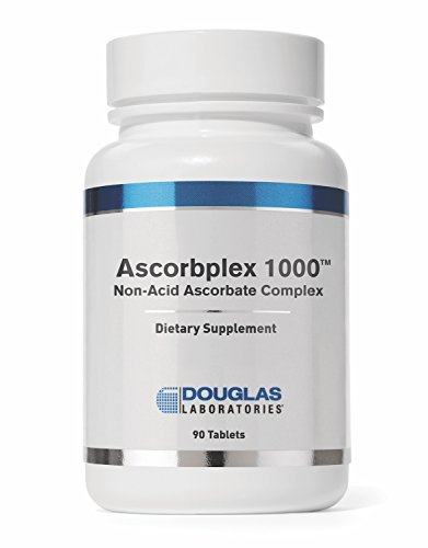 - Douglas Laboratories - Ascorbplex 1000 (Buffered) - 100% Pure Vitamin C Buffered with Calcium, Magnesium and Potassium - 90 Tablets