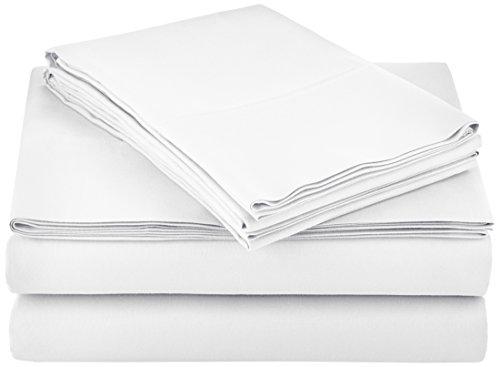 AmazonBasics Microfiber Bed Sheet Set - Full, Bright White