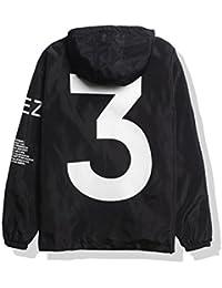 Men's Waterproof Front-Zip Lightweight Hoodie Hiking Outdoor Raincoat Jacket Pocket S-XL