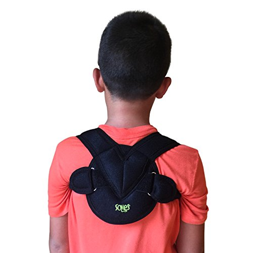 Bone Kids - Clavicle Bandage by Soles - Adjustable, Flexible, Breathable Neoprene - Unisex - Clavicle Brace for Collarbone Injuries (Pediatric)