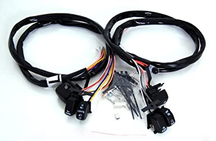 Pleasing Amazon Com Black Switches And Wires Harness For Harley Davidson Wiring 101 Kwecapipaaccommodationcom