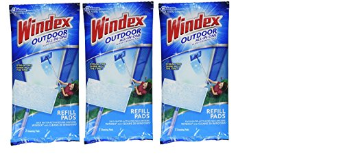 WINDEX Outdoor All-in-ONE Pads Refill 2 CT 3 Pack