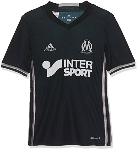 fan products of adidas Olympique Marseille 2016/17 Away Shirt Junior, Navy, 7-8 Years