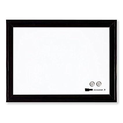 Rexel 1903777 Tableau Blanc Magn/étique Personnel Effa/çable /à Sec 585 x 430 mm Cadre en Aluminium Marqueurs Effaceur Aimants avec Kit de Montage