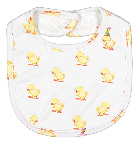 (giggle Printed Bib - Baby giggle Duck - 100% Peruvian Cotton, for Baby Eating, Drool, and Teething)