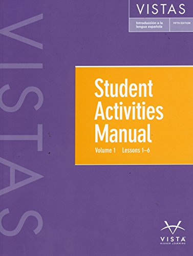 Vistas 5th Vol 1-6 Student Activities Manual