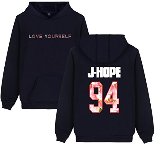 94 Jin Suga V Jimin J HOPE Kook reale Hope Jung BTS con Bangtan con Love Boys Felpe Pile Mostro cappuccio Unisex Yourself Felpa J SERAPHY Rap 7Oq1gg