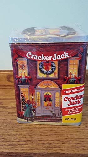 Kingdom Collectibles 1995 Limited Edition Holiday Village Cracker Jack Christmas Tin