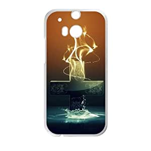 HTC One M8 Cell Phone Case Covers White abstract Painting TQ7196122