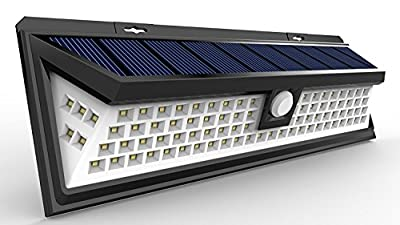 LED Solar Lights Outdoor, Super Bright Wide Angle Solar Powered Light, Wireless Security Waterproof Wall Lights for Garage Patio Garden Driveway Yard RV