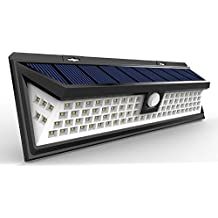 Solar Lights Outdoor 90 LED, Super Bright Wide Angle Solar Powered Light, Wireless Security Waterproof Wall Lights for Garage Patio Garden Driveway Yard RV, 90 LED