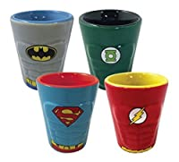 Shot Glass - DC Comics - Heroes Molded Ceramic 4-Pack New Toys 07770