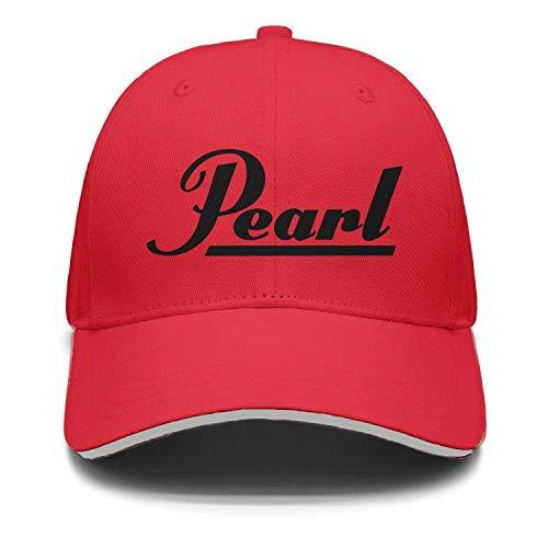 uter ewjrt Adjustable Pearl-Drums-Logo- Visor Hats Personalized New Cap (Apparel Drum Pearl)