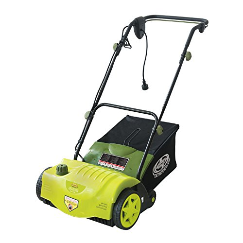 Sun Joe Dethatcher Joe AJ800E 14-Inch 11-Amp Electric Dethatcher with AirBoost Technology (Power Rake Grass)