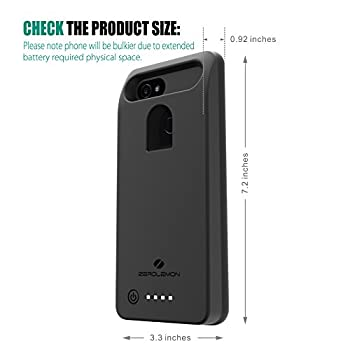 Google Pixel 2 XL Battery Case, ZeroLemon Ultra Power 8500mAh Extended Battery Case for Google Pixel 2 XL (NOT For Google Pixel 2)- Black