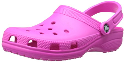 Crocs Men's and Women's Classic Clog, Comfort Slip On Casual Water Shoe, Lightweight, Neon Magenta, 8 US Women / 6 US Men