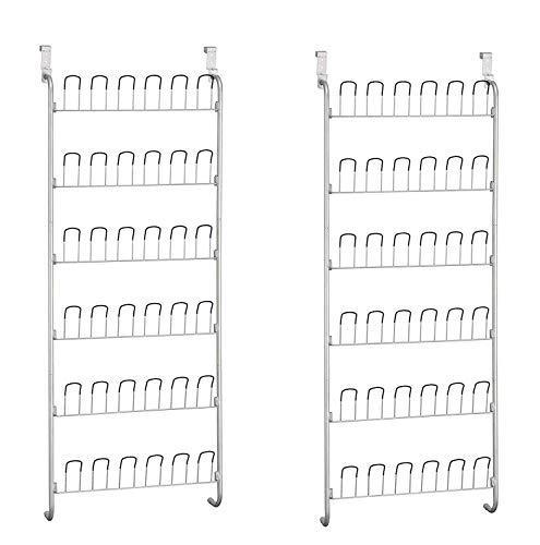 Neu Home Organize It All Over-The-Door 18 Pair Hanging Wire Shoe Rack (Pack of 2) Door 18 Pair Shoe