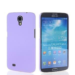 EVERGREENBUYING Litchi Skin Hard Rubberized Rubber Coating Back Case Cover For Samsung Galaxy Mega 6.3 I9200 Purple