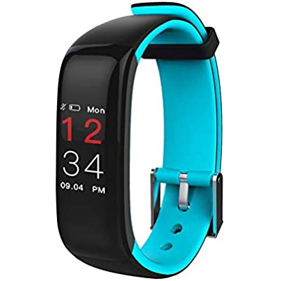 Plus Color Screen Smart Wristband Fitness Tracker Activity Tracker Watch With Heart Rate Monitor Waterproof Smart Fitness Band Calorie Counter Children s Women s And Men s Multi-Function F Estimated Price -