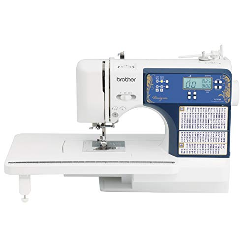 Brother 240 Built-in Stitches, LCD Display, Wide Table, 14 Included Feet Sewing and Quilting Machine, DZ3000, White