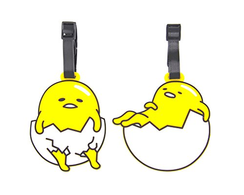 CellDesigns Set of 2 Luggage Tag with Adjustable Strap (Gudetama Eggs)
