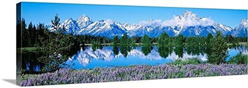Teton Range Grand Teton National Park WY Canvas Wall Art Print