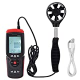 Wal front Wind Speed Gauge GT8907 Precise Handheld Digital USB Anemometer Multi-Function Wind Speed Temperature Air Flow Tester