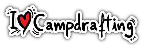 novland I Love Campdrafting Car Bumper Sticker Decal 8 x 2