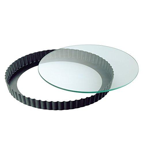 KAISER Quicheform mit Glas-Hebeboden ø 28 cm Crystal gute Antihaftbeschichtung schnitt- und kratzfester Glasboden servierfertig