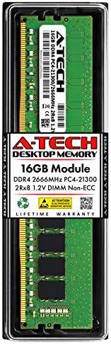 Server Memory Ram DDR4 PC4-21300 2666Mhz ECC Registered RDIMM 2rx8 A-Tech 8GB Module for GIGABYTE R28N-F3C AT385311SRV-X1R14
