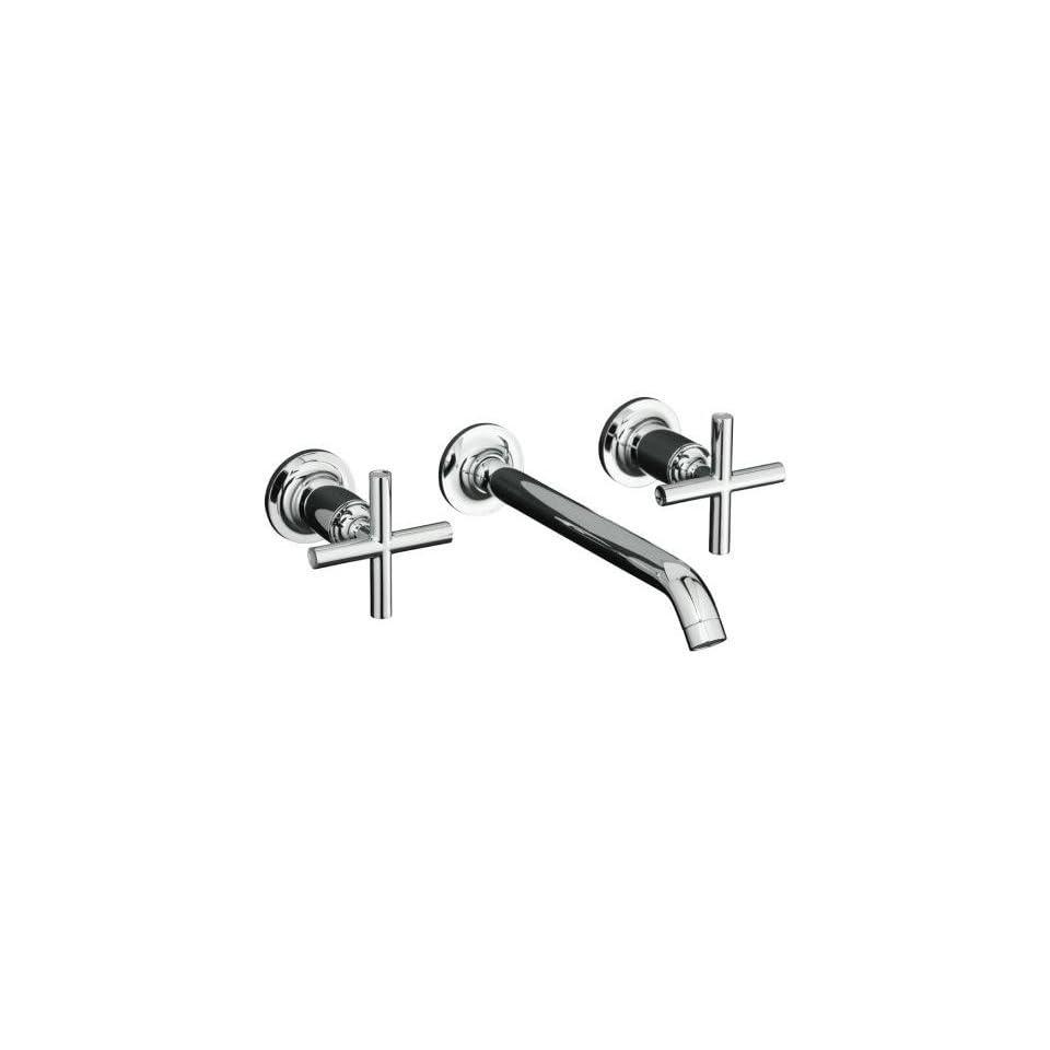 Kohler Purist Polished Nickel Wall Mount Bathroom Sink Faucet, 8 1/4