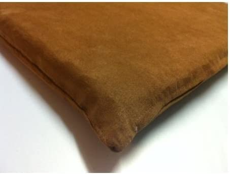 Dogbed4less Two Pack 20 X17 X2 Small Chocolate color Suede memory foam Pet Bed for Dog or Cat