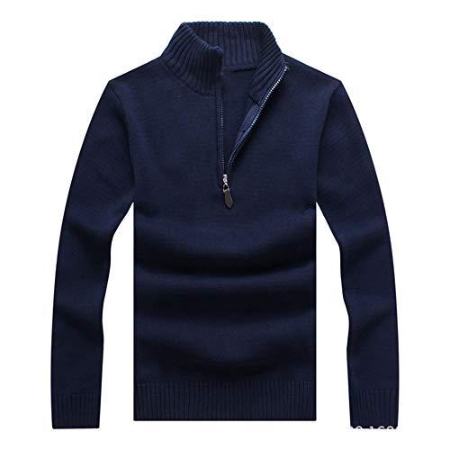 Pull Longues Col Slim Fit Bleu Epais En Manches Automne Coton Montant Homme Youthny Chaud Hiver 4wdCzz7q