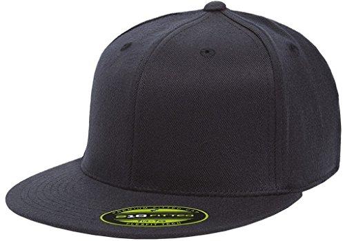 Flexfit Premium Flatbill Cap – Fitted 6210 - Large/X-Large (Dark Navy)