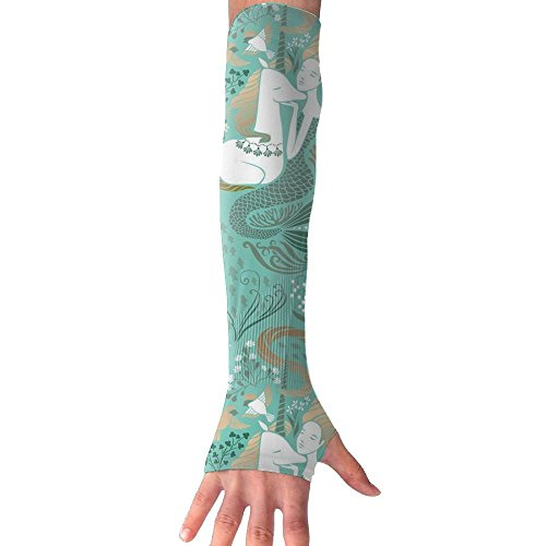 Huadduo Mermaid And The Unicorn UV Sun Protection Sleeves,Cooling Arm Sleeves For Men & Women Long Arm Sleeve Glove Fit Running,Golf,Cycling, Biking,Driving,Fishing by Huadduo