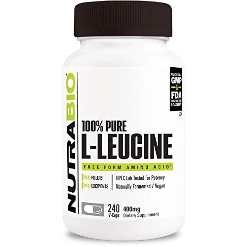 NutraBio 100% Pure L-Leucine (400mg, 240 Capsules) For Sale