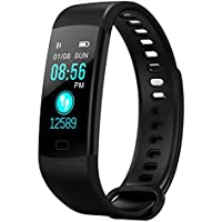 zoeson Fitness Tracker Color Screen Sport Smart Watch,Smart Wristband Waterproof Pedometer Activity Tracker with Sleep Monitor, Heart Rate Monitor, Blood Pressure/Oxygen Monitor (Black)