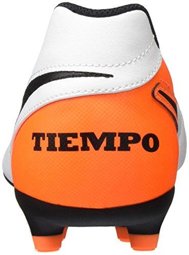 Nike Tiempo Rio Iii Fg, Botas de Fútbol para Hombre Blanco (White / Black-Total Orange)