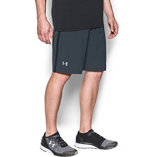 Escape 9' Woven Shorts (Under Armour Men's Launch 9'' Shorts, Stealth Gray/Reflective, Medium)