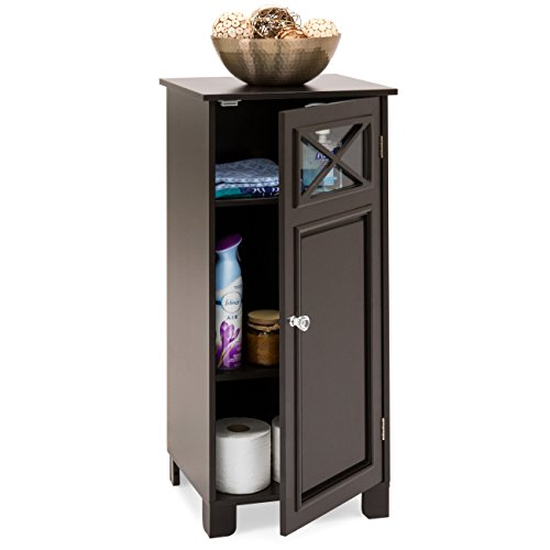 Best Choice Products Elegant Floor Cabinet w/Door (Espresso) by Best Choice Products