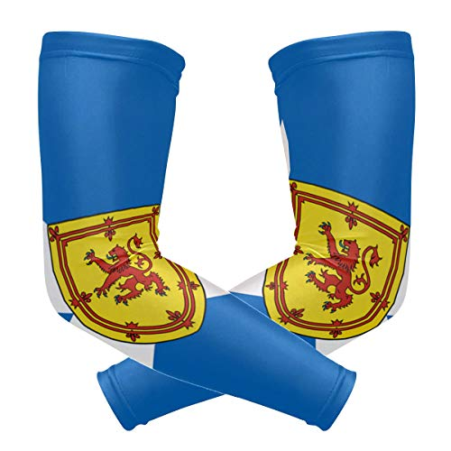 - Arm Sleeves Flag Of Scotland Defaced With Royal Arms Man Baseball Long Cooling Sleeves Sun UV Compression Arm Covers