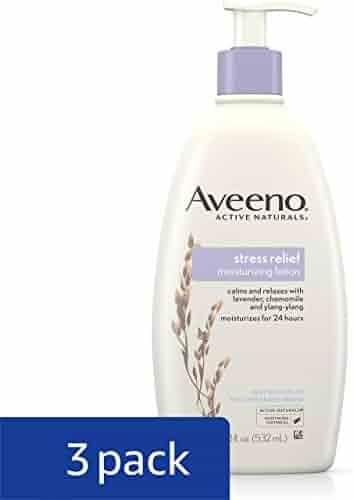 Aveeno Stress Relief Moisturizing Lotion For 24 Hour Moisturization, 18 Fl. Oz (Pack of 3)