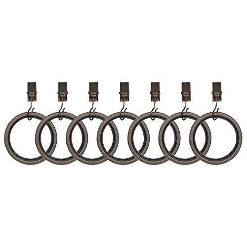 Umbra Cappa Clip Rings (Set of 7) (BRUSHED BLACK) (Umbra Clip Rings)