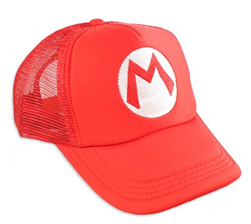 Red Mario Hat for Kids - Great for Cosplays and Halloween - Present for Gamers ()