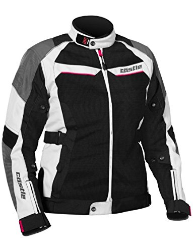 - Castle Passion Air Women's Motorcycle Jacket White/Hot Pink SML